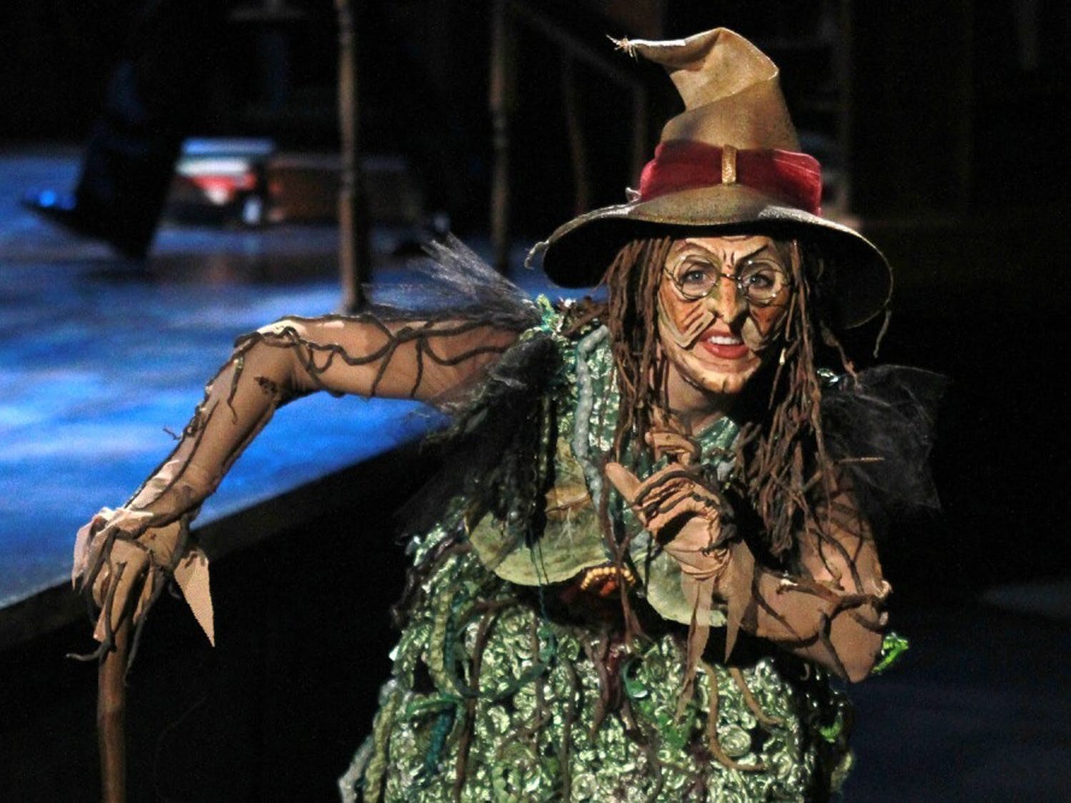 "Lisa Brescia plays the Witch in PlayMakers Repertory Company's production of ""Into The Woods."""