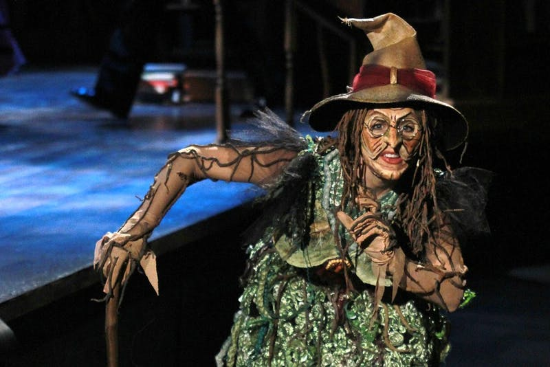 """Lisa Brescia plays the Witch in PlayMakers Repertory Company's production of """"Into The Woods."""""""