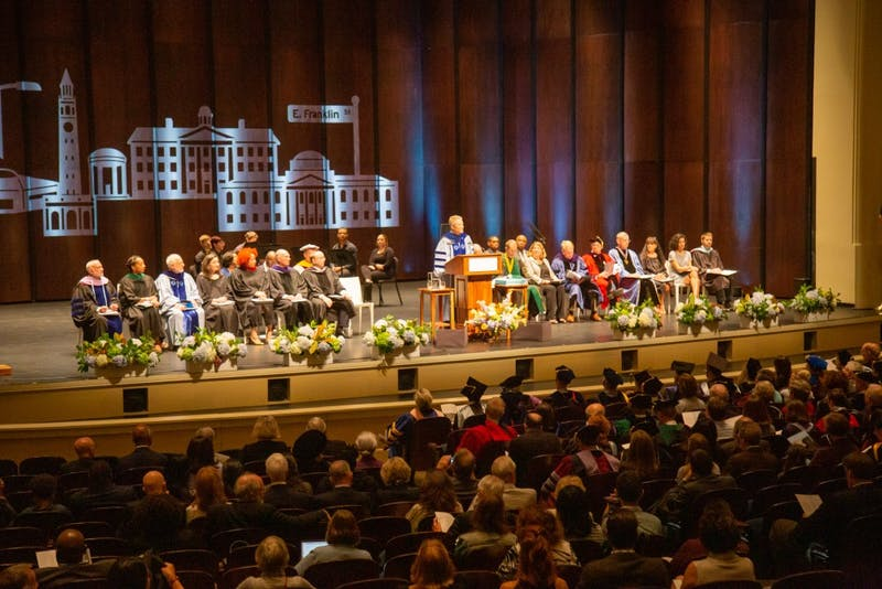 Interim Chancellor Kevin Guskiewicz commences University Day on Saturday, Oct. 12, 2019 at Memorial Hall.