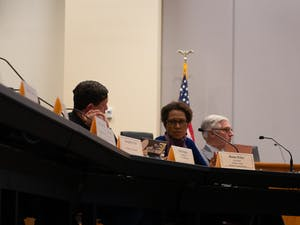 Orange County Commissioner Renee Price speaks at a previous Assembly of Governors meeting at the Whitted Building in Hillsborough on Tuesday, Jan. 28, 2019.