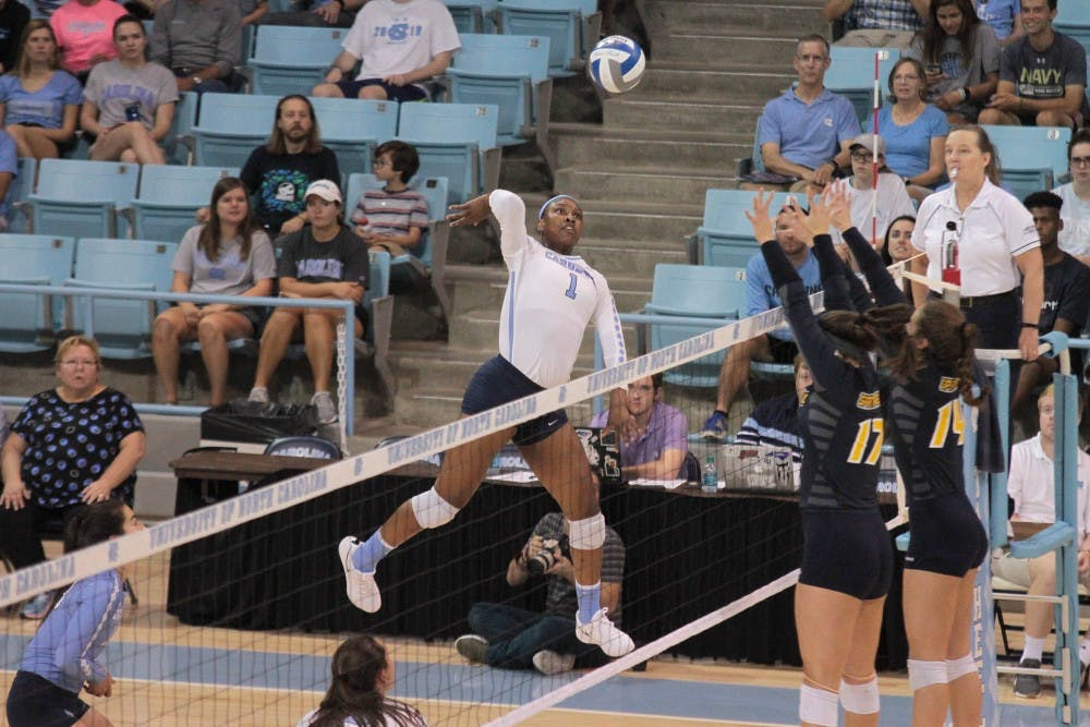 Youthfulness and inconsistency hurt UNC volleyball in loss to Notre Dame