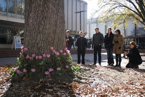 The UNC LGBTQ Center honors Transgender Day of Remembrance in 2014. Photo by Ani Garrigo.