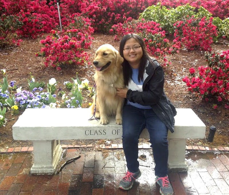 Senior Winne Wang and her Golden Retriever, Gracie, are changing the world one paw at a time.