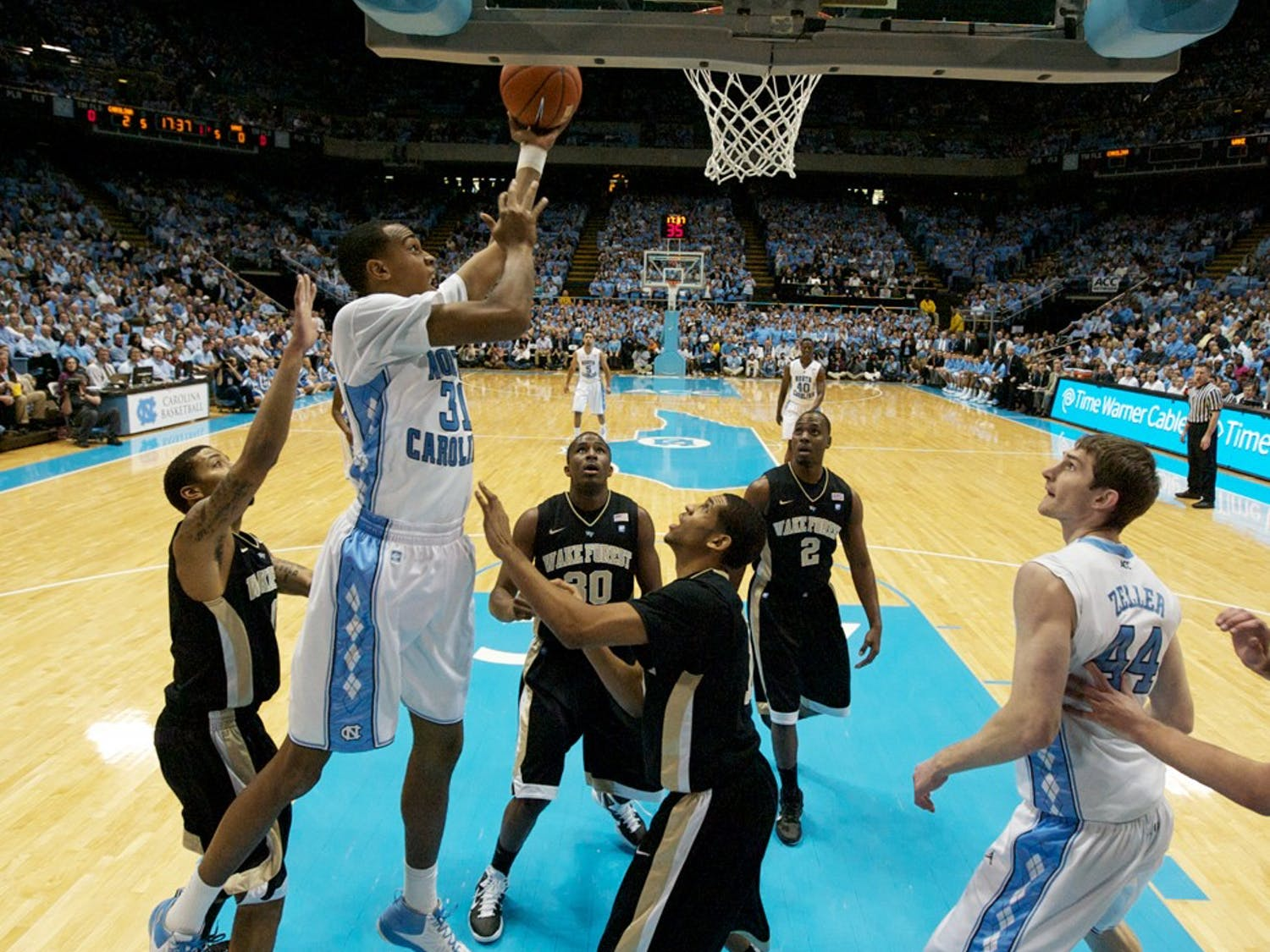 The University of North Carolina Tar Heels played the Wake Forest Demon Deacons on Tuesday, February 15, 2011 in The Dean E. Smith Center. The Tar Heels won 78-64.
