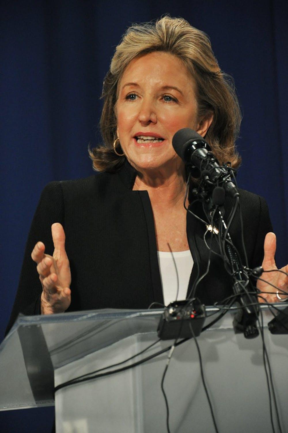 <p>Sen. Kay Hagan, D-N.C. and opponent Thom Tillis debated on Tuesday.</p>