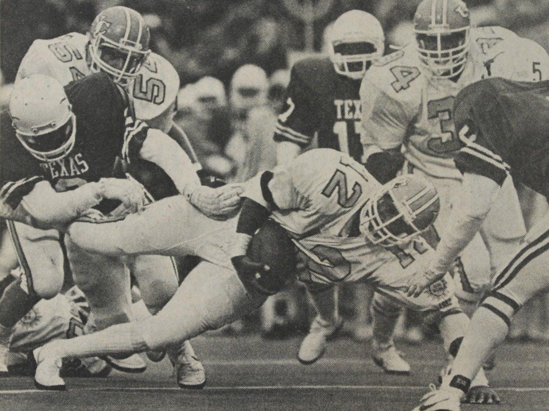 On Dec. 25, 1982, UNC played No.8 Texas in the 1982 Sun Bowl. UNC upset Texas 26-10. DTH FILE/ Scott Sharpe.