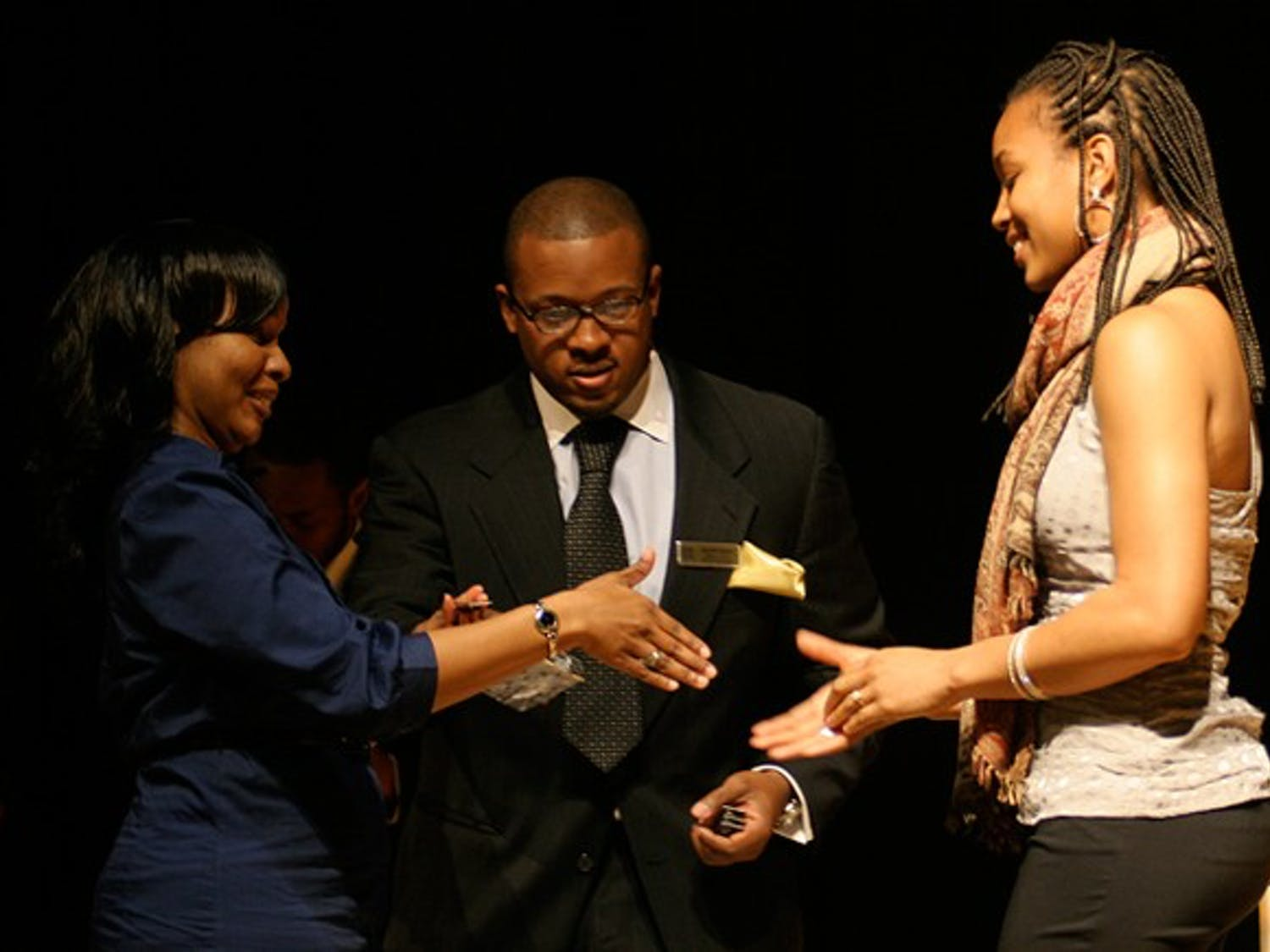 Junior Jessica Booker was one of 28 students inducted as a McNair scholar at the Stone Center on Thursday. dth/Daixi Xu