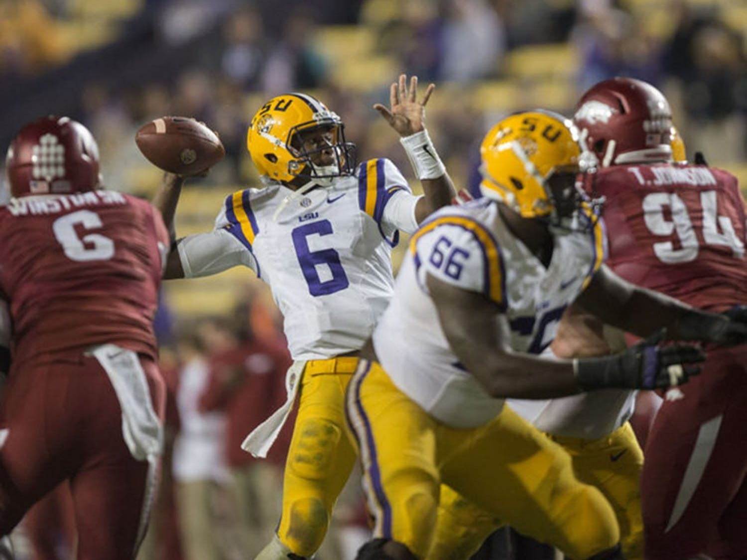 Former LSU and graduate transferquarterback Brandon Harris has verbally committed to North Carolina.Photo Courtesy ofThe Daily Reveille.