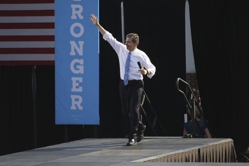 Gov. Roy Cooper, then the Democratic gubernatorial candidate, was one of the speakers during the Obama rally on Nov. 9 at Hooker Fields. Cooper announced that North Carolina will join 14 other states in the U.S. Climate Alliance.