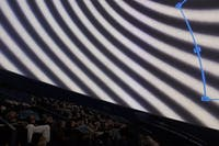 """Pictured is a shot of Morehead Planetarium during the screening ofone of the films in the Hanes Visiting Artist Lecture Series presentation called """"AO"""" by Lucy Raven. Photo courtesy of Sabine Gruffat"""
