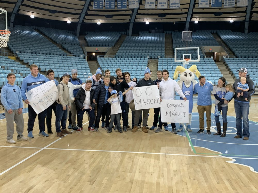<p>The UNC wrestling team held a special draft for Mason Fannin, a 7-year-old with Leukemia, on Wednesday, Nov. 13, 2019.&nbsp;</p>