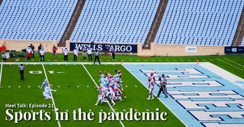 UNC graduate place kicker Grayson Atkins (17) makes a field goal attempt in an empty Kenan Memorial Stadium during a game against Syracuse on Saturday, Sept. 12, 2020. The game ended with UNC besting Syracuse 31-6.