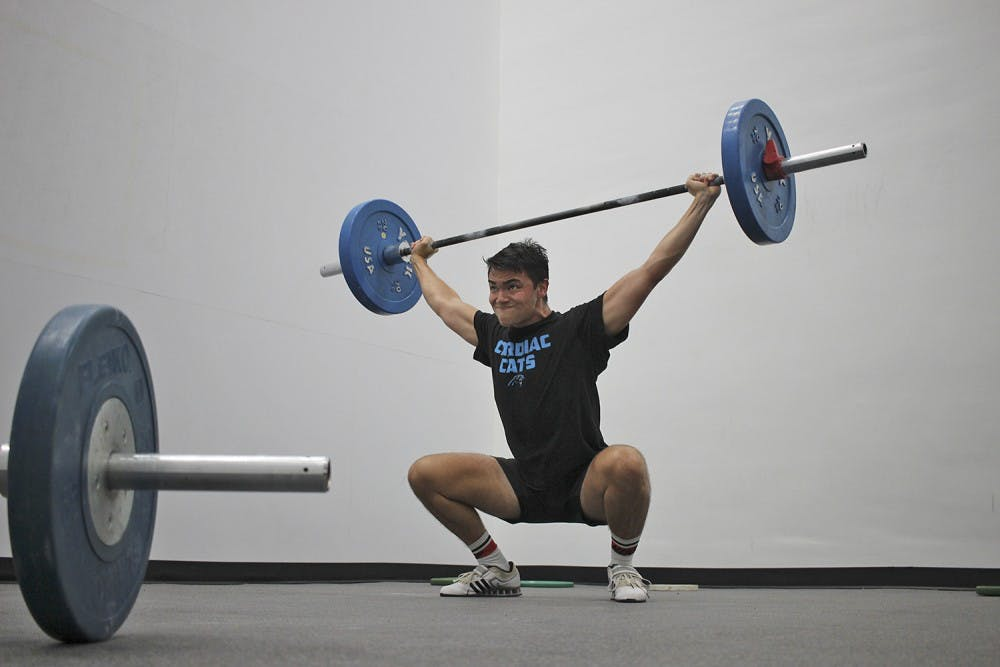 From Navy to weightlifting — UNC student Jake Sellinger makes new dreams