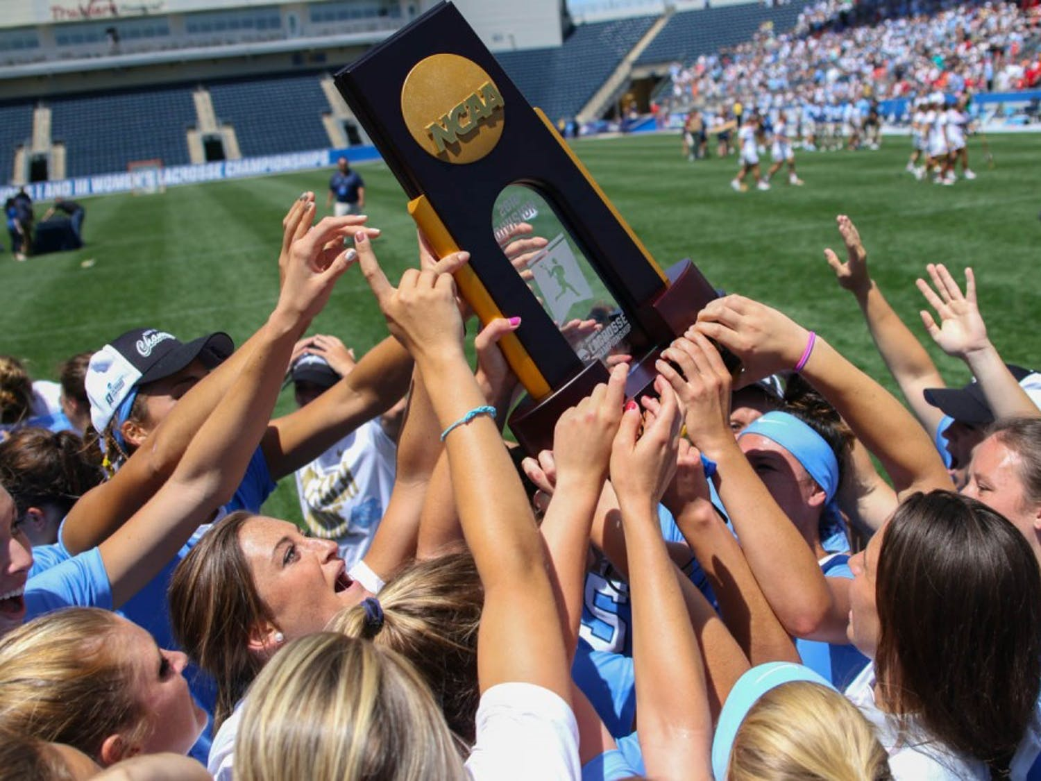 The North Carolina women's lacrosse team defeated Maryland 13-7 to capture the NCAA championship on Sunday at Talen Energy Stadium in Chester, PA.