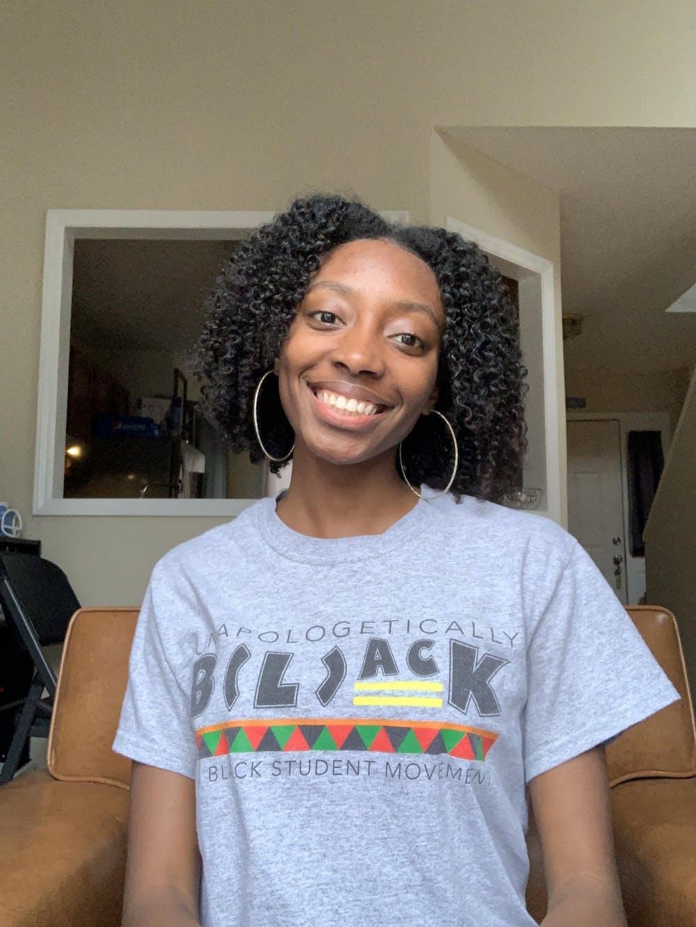 Black Student Movement president Tamiya Troy also serves as the senior class Vice President. Photo courtesy of Tamiya Troy.
