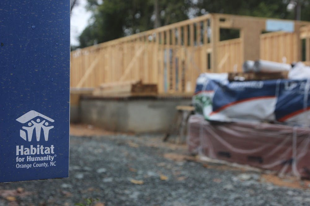 The Orange County branch of Habitat for Humanity is currently working on building two houses in the Northside neighborhood of Chapel Hill.
