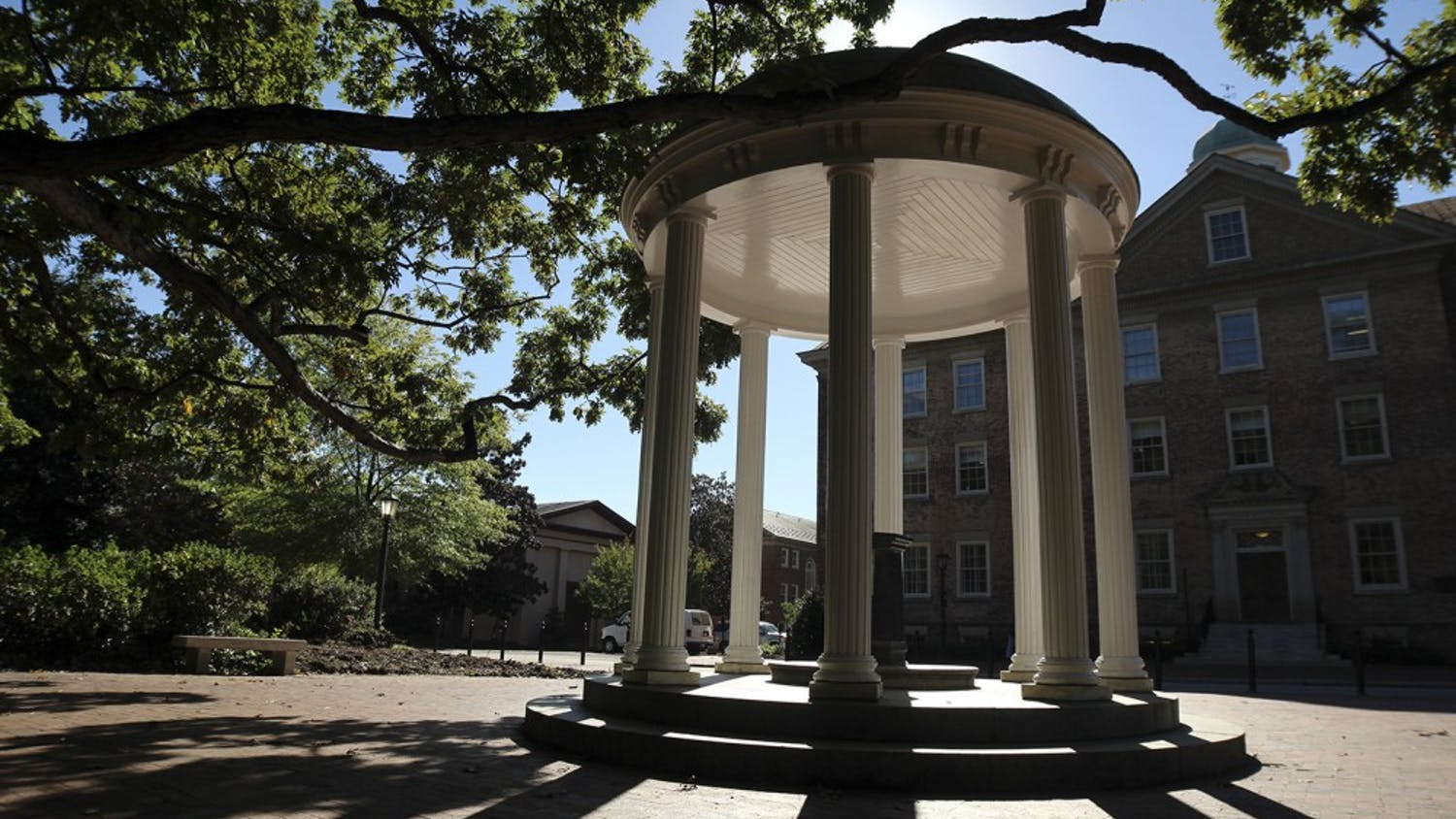 The Old Well, a popular UNC monument, pictured on Wednesday, April 19, 2017.