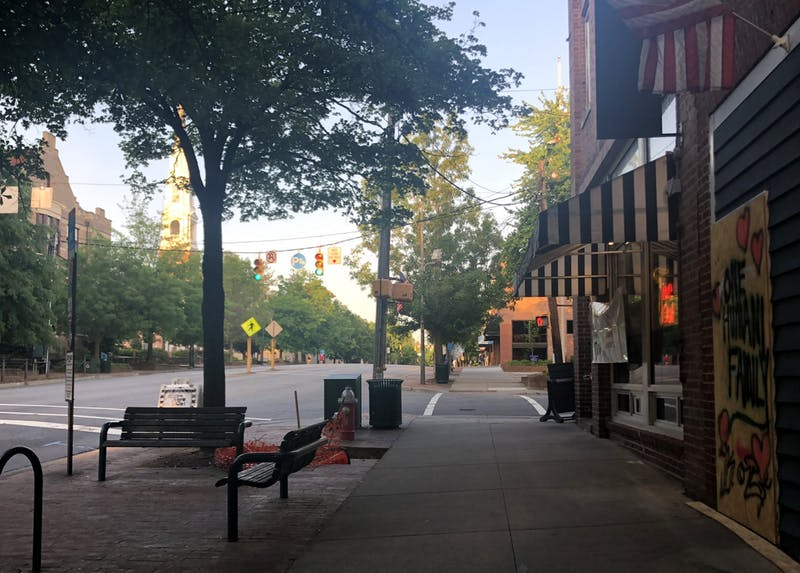 View of East Franklin St. on Monday, May 18, 2020.