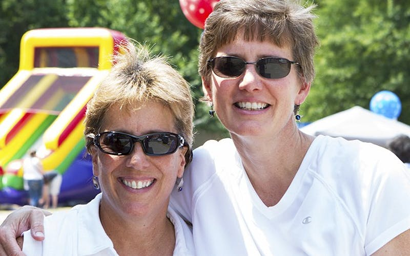 Alicia Stemper, right, and Lydia Lavelle became domestic partners in 2011. Photo courtesy of Avery Stemper.