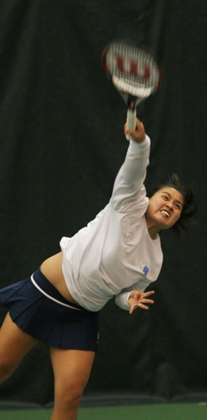 Katrina Tsang came away with a win in her singles match against N.C. State. DTH/Andrew Dunn