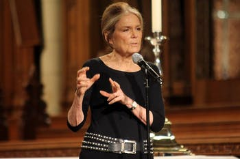 Gloria Steinem, a writer and activist, spoke at Duke Chapel in honor of the 10th anniversary of the Baldwin Scholars Program on Tuesday.