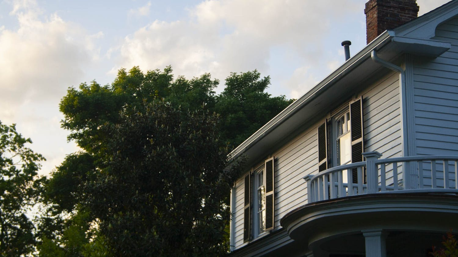 An off-campus house on Franklin Street pictured on Sunday, May 17, 2020.