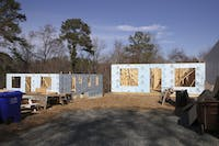 Habitat for Humanity is in the process of building two houses located on Sykes Street in Chapel Hill.