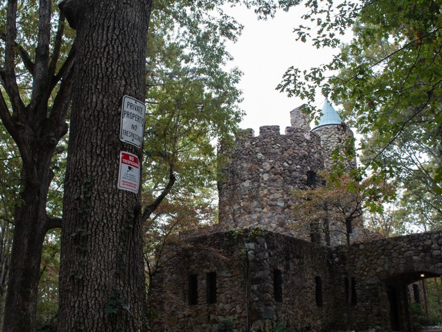 """Senior Molly Horak reports having heard """"'Phantom of the Opera' kind of music"""" at an empty Gimghoul Castle. The Castle was built in the 1920s and is a local legend."""