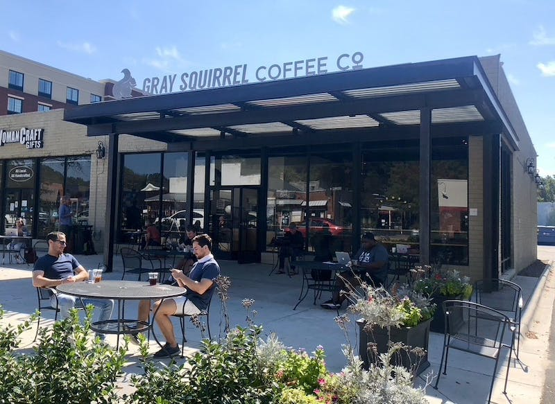"The Gray Squirrel Cafe, photographed on Thursday, Oct. 8, 2020, is the location for Carrboro's new mural that will be painted by Jermaine ""JP"" Powell."