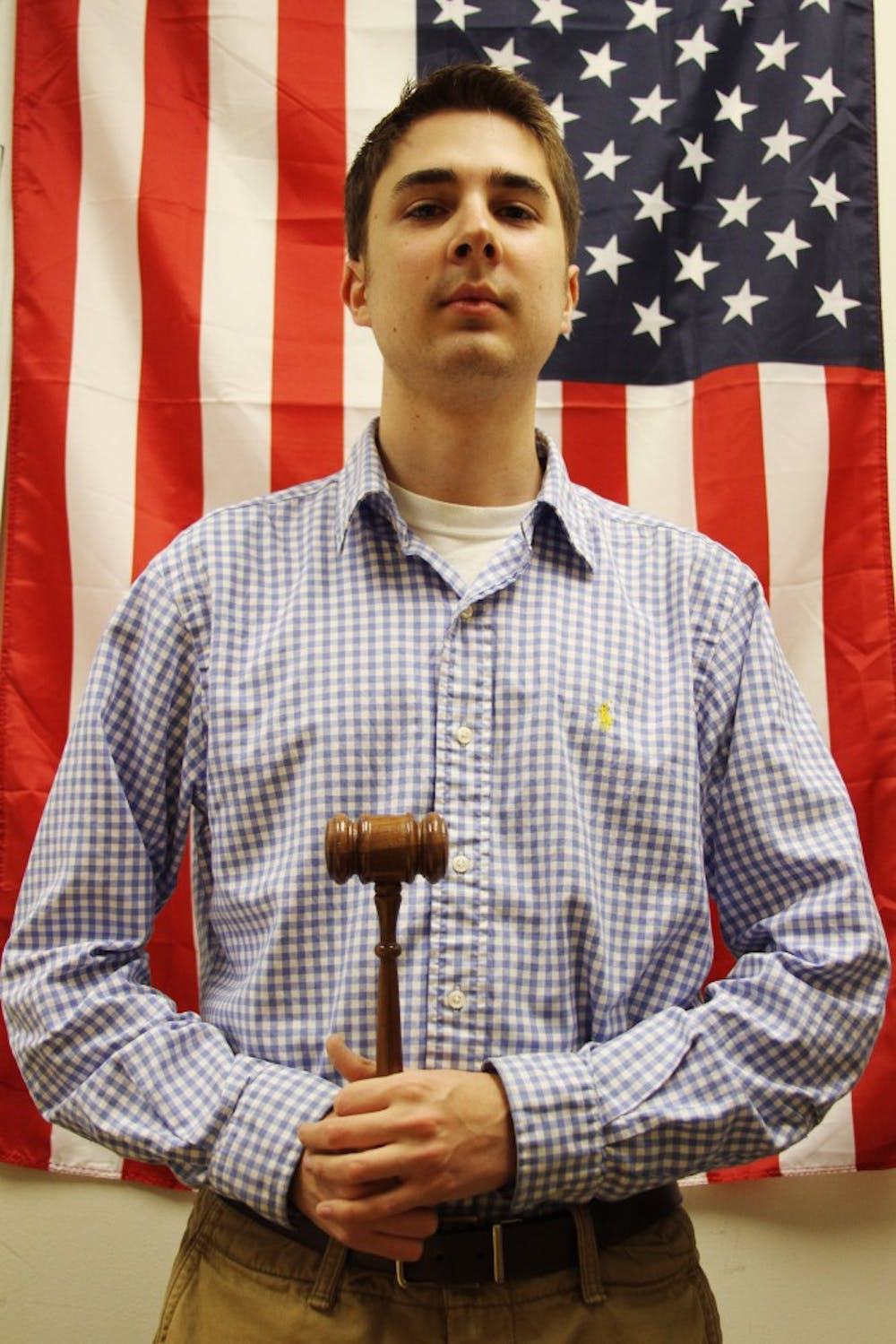 <p>Zachary De La Rosa has been actively involved in student government for several years. Before becoming speaker of Student Congress, he served as speaker pro tempore.</p>