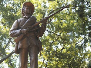 Silent Sam in McCorkle Place
