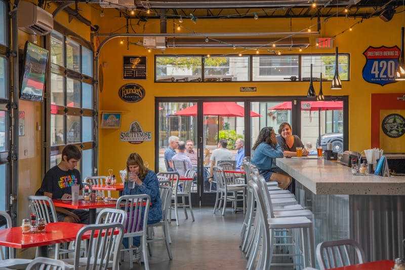 Customers savor the remaining days of the Mellow Mushroom on Franklin Street on Tuesday, Oct. 29, 2019. The Chapel Hill location will be closing its doors this Sunday, Nov. 3, 2019.
