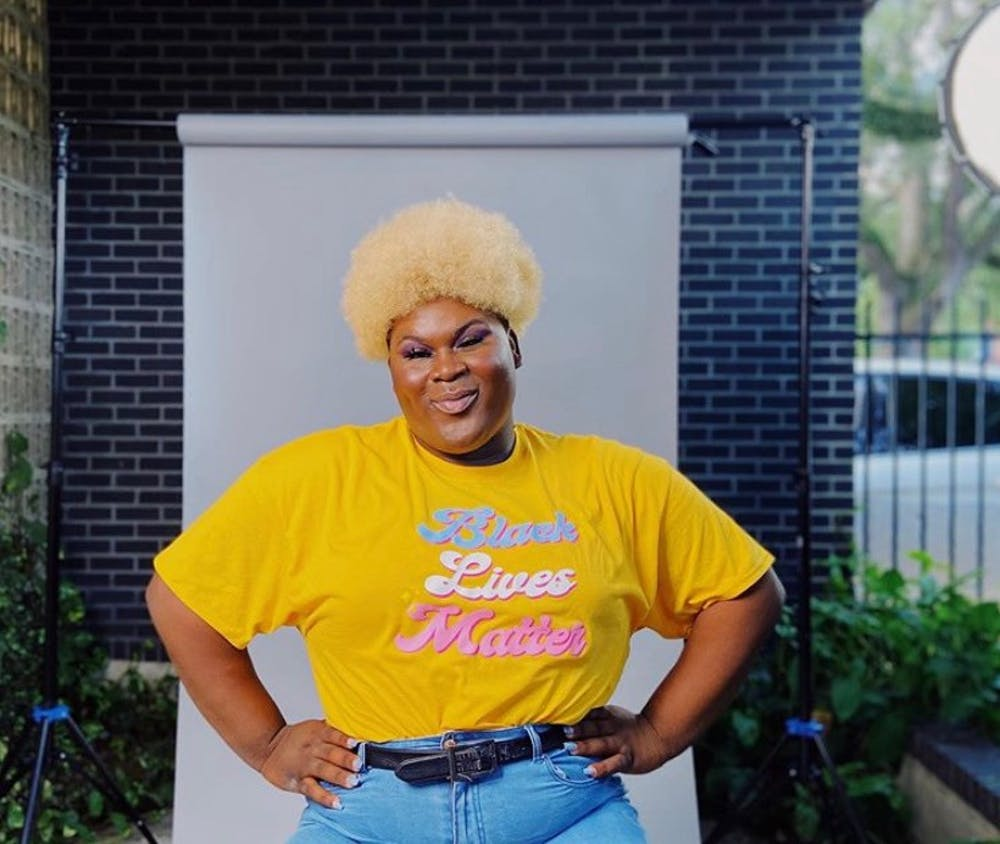 """<p>A portrait of Sis, creator of """"Our Offering,"""" a virtual play benefiting The Next Generation Project, which helps provide resources to Black and brown trans folks. Photo courtesy of Sis.</p>"""