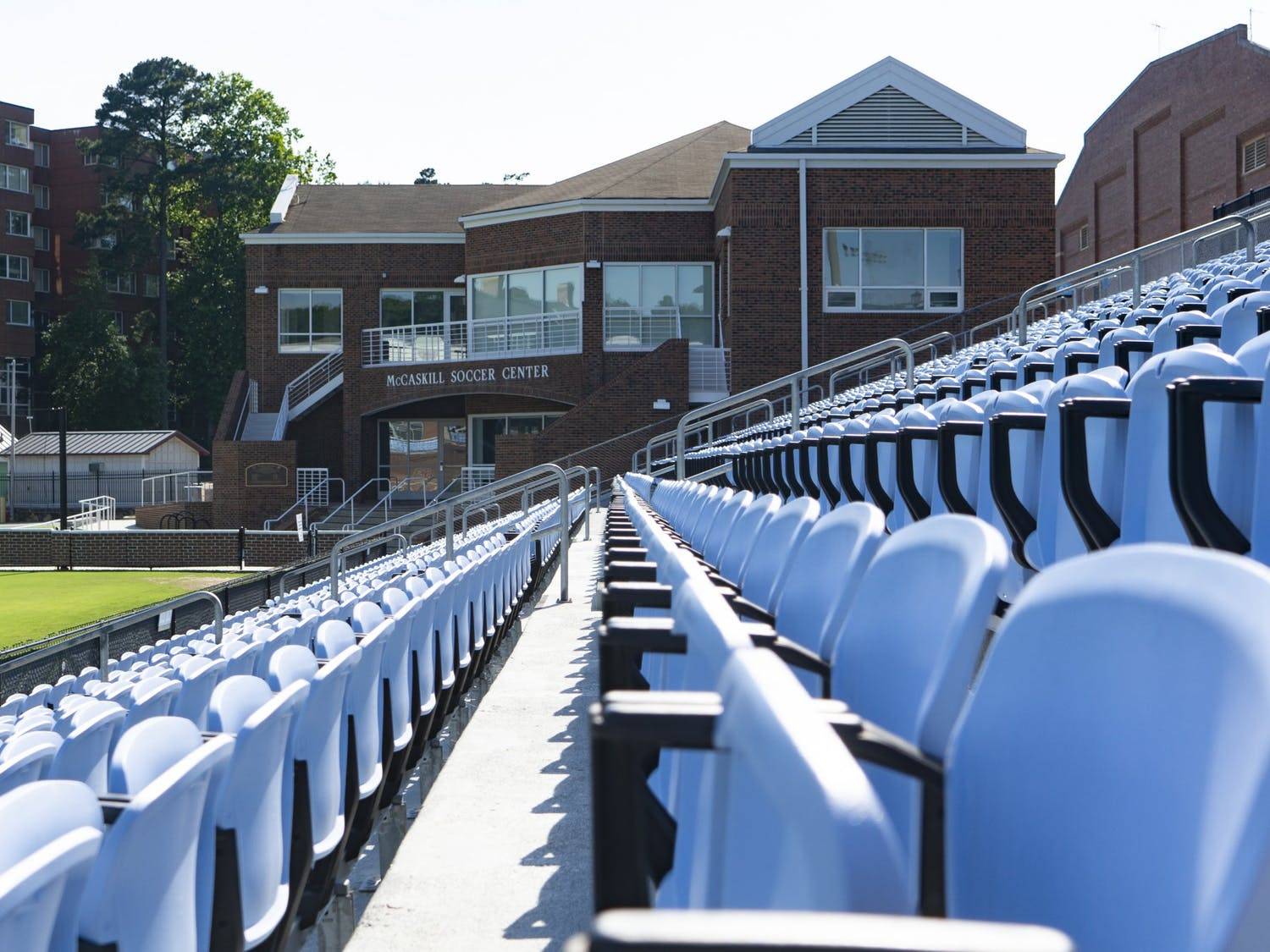 Seats of Dorrance Field and the McCaskill Soccer Center as pictured on Sunday, June 7, 2020