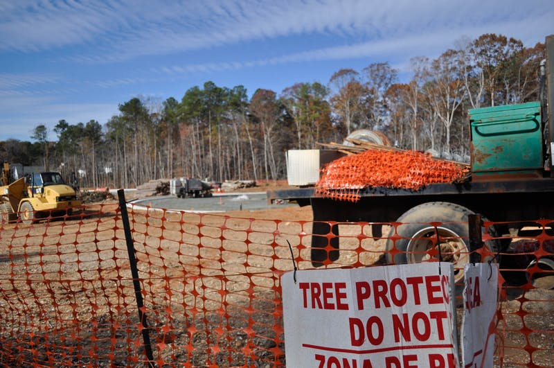 Construction is underway for a new residential development project located on Homestead Road on Sunday, Nov. 24, 2019. Plans of developing land near the corner of Eubanks Road and Old NC 86 raised concerns from residents about how Duke Forest's research and natural sites would be affected.
