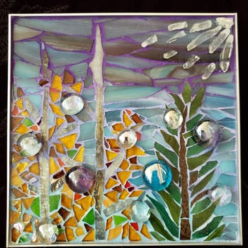 A mosaic by Lynn Wilder, one of the artists participating in Arts on Market. Photo courtesy of Melinda Abrams.