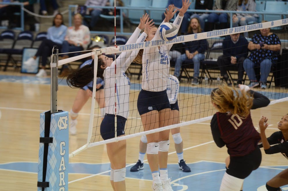 UNC volleyball unable to close out close sets in 3-0 loss to Michigan State
