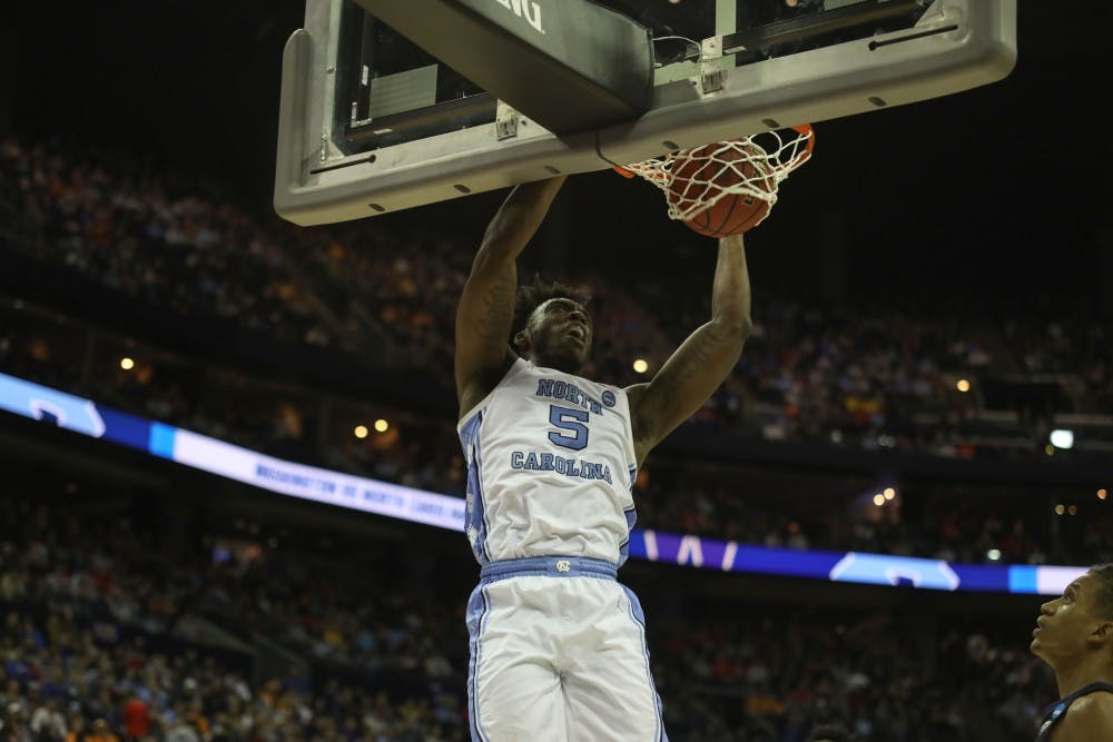 'Y'all are no longer freshmen': White and Little score 37 to lead UNC to Sweet 16