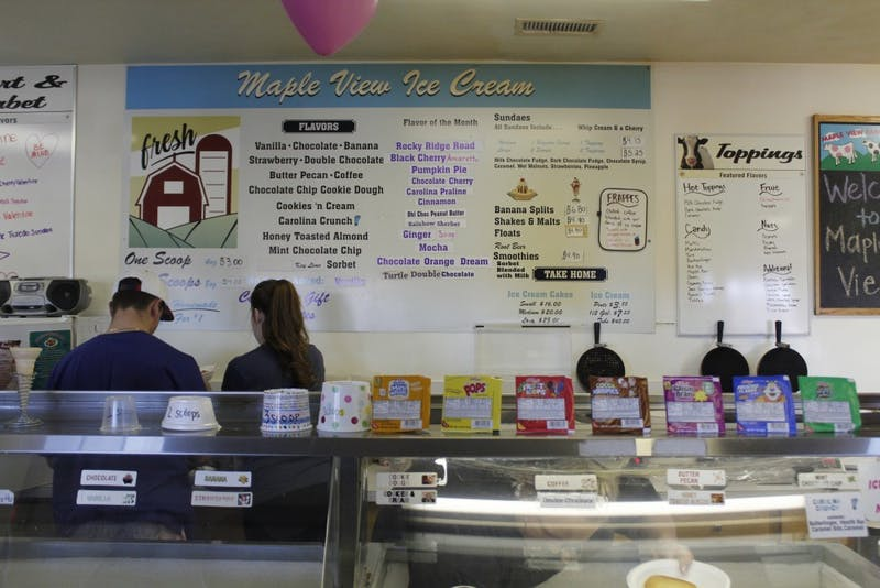 Maple View Farm celebrated National Eat Ice Cream for Breakfast Day by serving an ice cream themed breakfast from 9 a.m. to 12 p.m. on Saturday.
