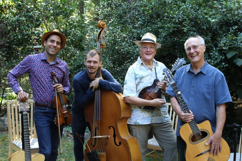 The Onyx Boys and Tony Williamson who will be performing this weekend at the Django Reinhardt Festival. Photo courtesy of Gabriel Pelli.