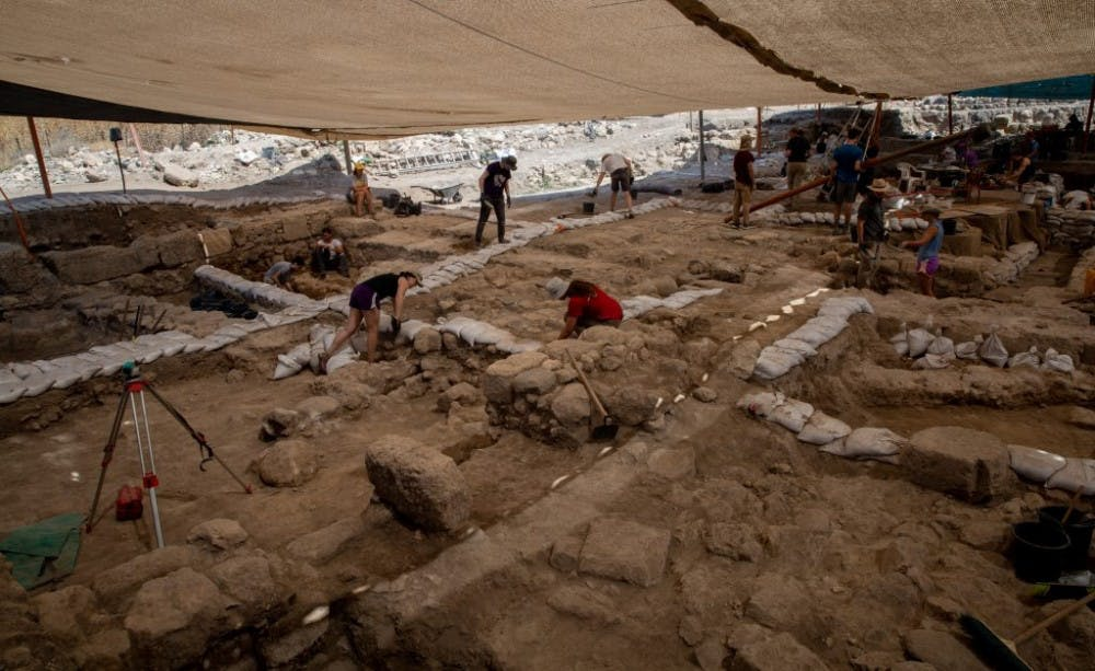 <p>The dig site at Huqoq. (Photo by Adriana Diaz)</p> <p>Photo courtesy of UNC Media Hub</p>