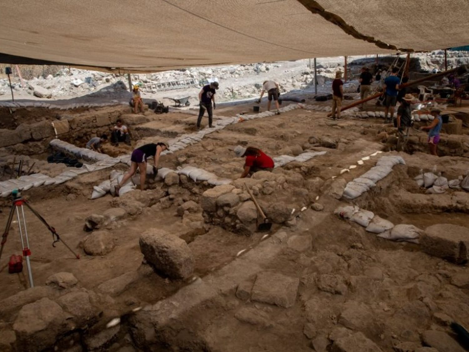 The dig site at Huqoq. (Photo by Adriana Diaz) Photo courtesy of UNC Media Hub