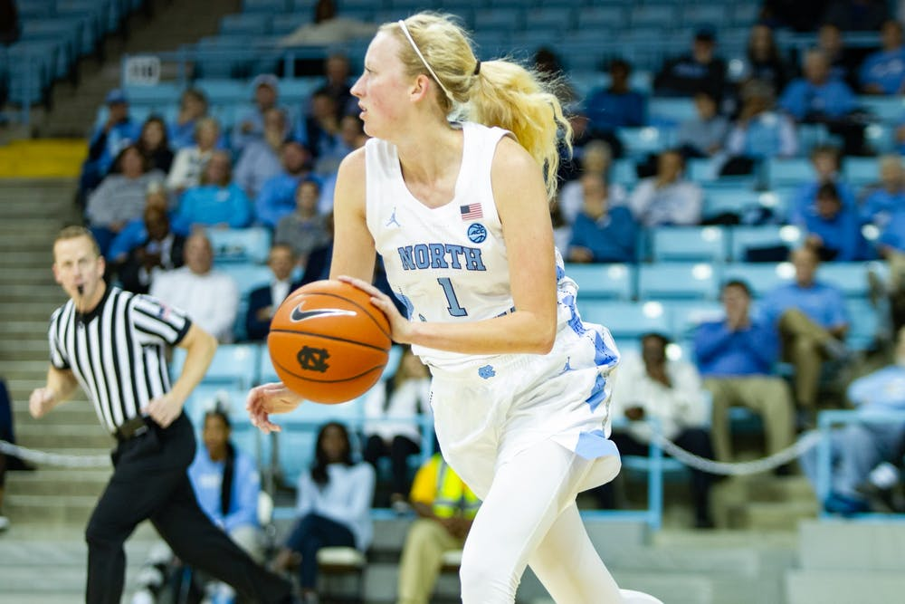 With Bailey and Koenen, UNC women's basketball towers over Navy in 80-40 win