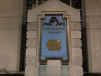 The University covered a plaque at Kenan Memorial Stadium with a UNC logo, over a year after former Chancellor Carol Folt announced that the dedication would be changed in 2018.