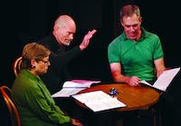 "Jim Bullock, a member of the graduating class in the Writing for the Screen and Stage Program at UNC, wrote ""When the Bell Rights, You Shut the **** Up,"" a one-act play that was part of ""Long Story Shorts."" This was performed at the Center for Dramatic Art. 