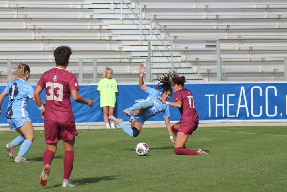 UNC women's soccer loses, 3-2, to Florida State, falls short of ACC Championship win