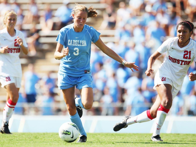 UNC women's soccer defeated Houston 6-1 on Sunday, August 28, 2011.