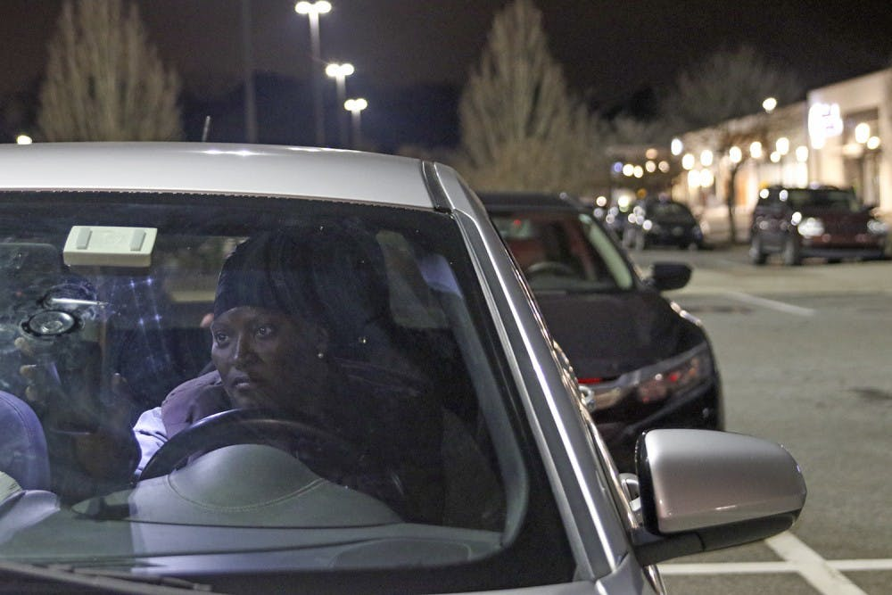 <p>Carolina Dining Services employee, Melanie McMullin, parks at University Place in order to avoid paying to park on or near campus for her  job.</p>