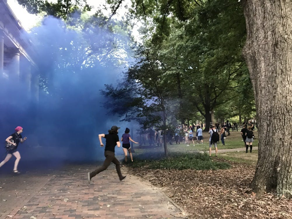 Updated: UNC releases arrest information from Saturday's Silent Sam rally