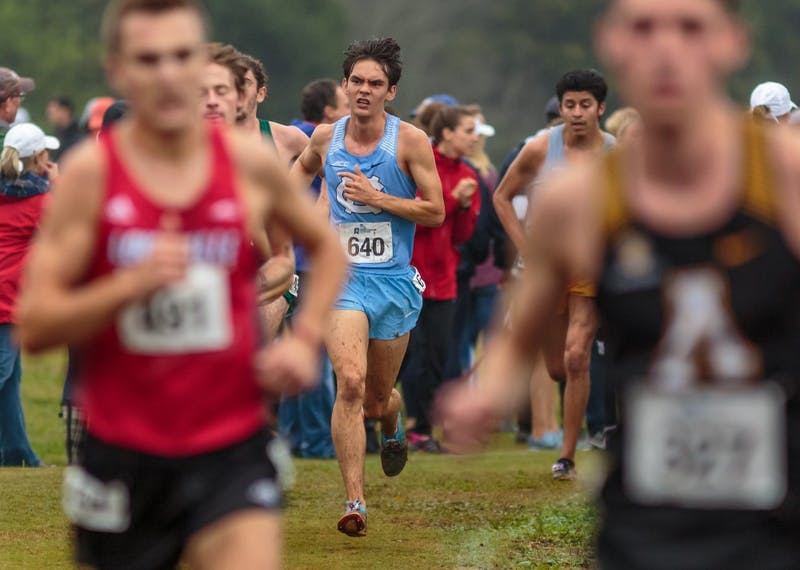 Mitch Resor races in the men's 10k during the NCAA Southeast Regional Championships at Winthrop University in Rock Hill, SC on Friday, Nov. 9 2018.